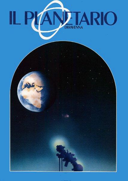 """Coperrtina opuscolo """"il Planetario di Ravenna"""" 1985"""