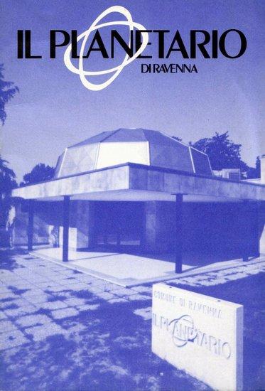 """Coperrtina opuscolo """"il Planetario di Ravenna"""" 1986"""