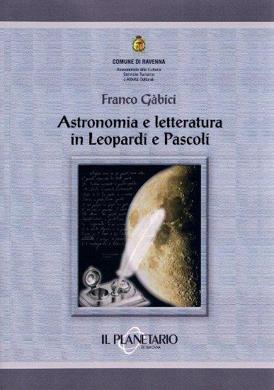 Copertina volume Astronomia e letteratura in Leopardi e Pascoli